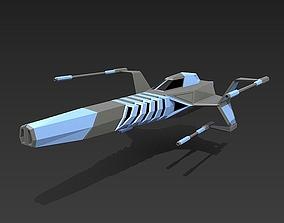 Space warthog spaceship concept 3D asset