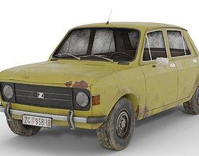 3D Zastava 101 Rusty Old Car