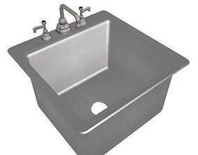 Stainless Steel Sink - Square 3D