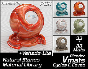 VMATS Natural Stones Material Library for Cycles and 3D 1