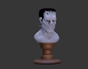 Frankenstein Creature Bust 3D print model