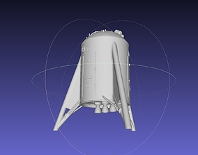 Space X Starhopper Noseless Test Hopper Printable