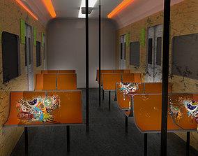 3D asset Subway Train Interior