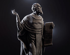The statue of the sage Cyril Of Turau 3D asset game-ready