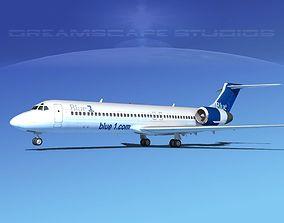 Boeing 717-200 Blue 1 3D