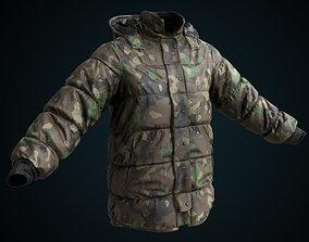 3D model Military winter jacket