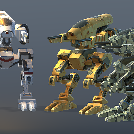Robot 3 Low-poly