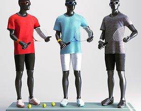 Tennis Man Mannequin figure 3D model