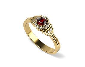 Love Engagement Diamond Ring 3D printable model