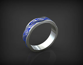 Rope Ring with ornament 3D printable model