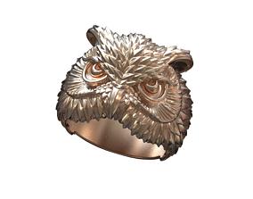 Owl ring 3D