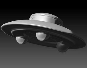 alien 3D printable model Classic UFO