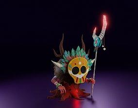Stylized 3D character SHAMAN mage