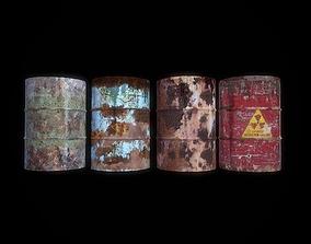 Barrels 3D asset low-poly