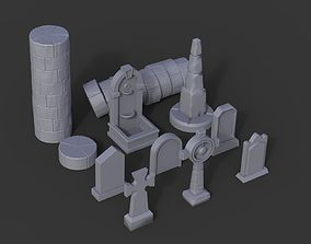 3D printable model Stone Pack - Props Wargaming