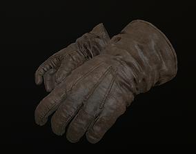 Gloves 3D model low-poly man