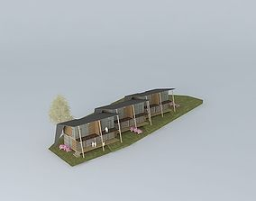 Vacation cottage house 3D model