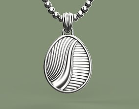 Easter egg Pisanka pendant with Path 3D printable model 2