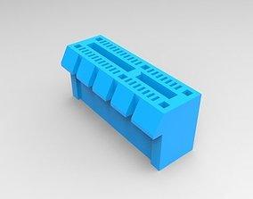pc 3D model PCI-e 1x Slot