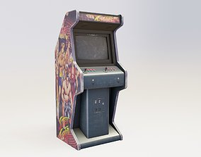 retro Arcade cabinet with pbr textures 3D model