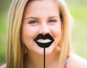 3D printable model lips stick 03