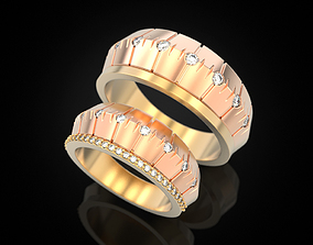 Wedding ring 74 3D print model