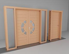 3D model building-component Double Door