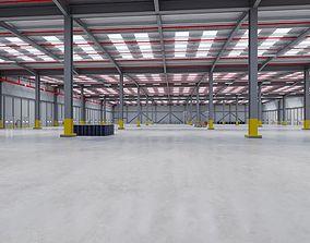 3D model Industrial Warehouse Interior 7