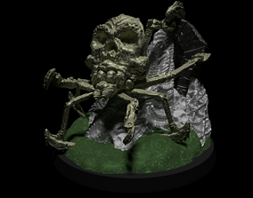 Skull Spider 50mm Tabletop Miniature in 2 Poses for 3D