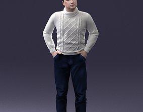 Man in sweater 1121 3D Print Ready