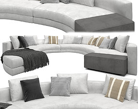 Sofa Daniels By Minotti 3D model