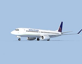 Boeing 737-800 Max United Airlines 3D