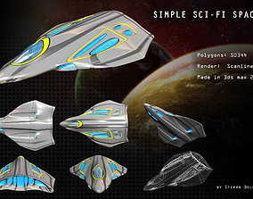 3D model Sci-fi Simple Spaceship