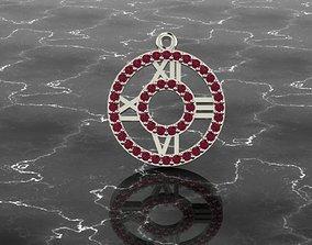 3D print model clock pendant with rome figure