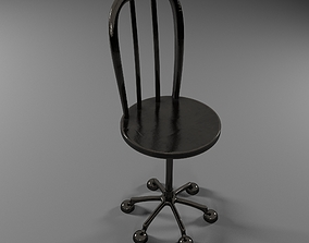 living-room Metallic Chair 3D model