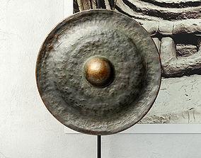 19th Century Laos Bronze Gong 3D