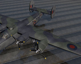 3D model Consolidated Liberator Mk-3 - RAF