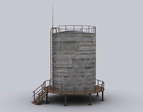 oil storage 3D asset