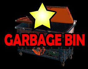 Garbage Bin 3D asset game-ready