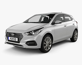 Hyundai Accent hatchback 2017 3D