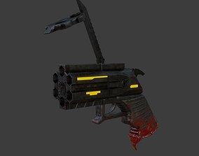 3D model game-ready Sci-fi Revolver