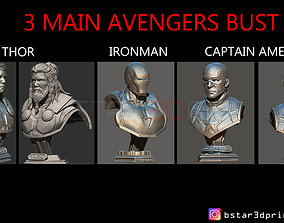 Thor - Iron Man - Captain America BUST - 3D print model 3