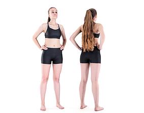 3D asset Female sport 79