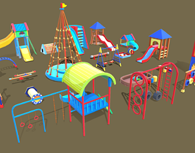 Playground Kid 3D model