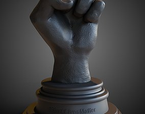 Black Lives Matter Fist and Stand 3D print model