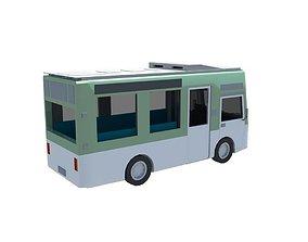 Mini Bus 16 - 18 seater 3D asset low-poly