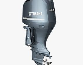 Yamaha Four Stroke 300hp V6 Outboard Motor 3D