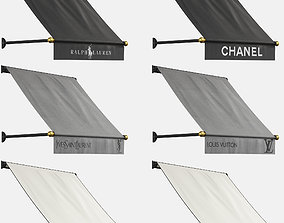 3D model Awnings Set For Boutiques