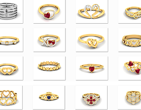 28 Love valentine ring 3dm render details pendant