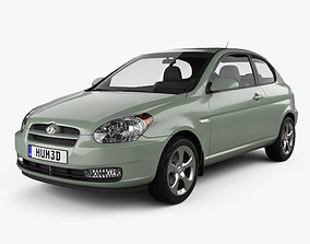 3D Hyundai Accent MC hatchback 3-door 2006